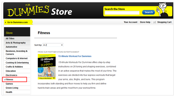 Dummies store site