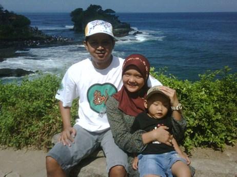 Herman Yudiono di Tanah Lot Bali
