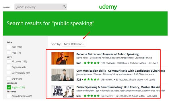 hasil pencarian Udemy
