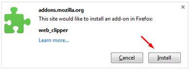 Instal Web Clipper